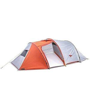 Tent Hiking Camping 3-season Trekking Tunnel Trek 500 Orange 4 Person Outdoor