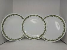 Corelle By Corning Plates Set Of 3 Green Floral Design
