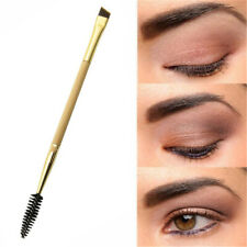 2 In 1 Eyebrow Brush+Eyebrow Comb Double Ended Angled Bamboo Handle Makeup Tool