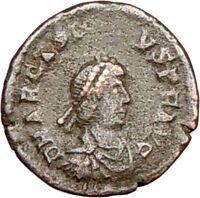 ARCADIUS 383AD Rare Authentic Ancient Roman Coin VICTORY NIKE  i26420