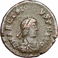 ARCADIUS 383AD Rare Authentic Ancient Roman Coin VICTORY NIKE  i26420
