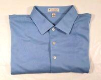 Peter Millar Summer Comfort Stryker Logo Short Sleeve Polo Golf Shirt Sz. XL