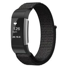 For Fitbit Charge 2 Band Nylon Sport Loop Replacement Strap Wrist Bands - Large