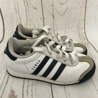 Adidas Samoa Boys Size 13 K Casual Leather White Blue Sneakers Shoes G21243