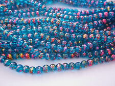 50 Blue/Pink/Gold 6mm Glass Beads #g3561 Combine Post-See Listing
