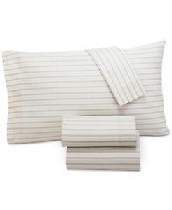 Lucky Brand Home 230 TC Leila Paisley Cotton Sateen QUEEN Sheet Set Beige H272
