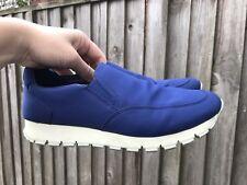 Prada sport blue women's nylon slip-on sneakers size eur/it 38 uk 5