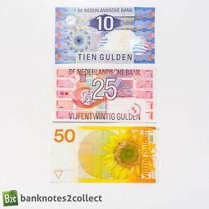 NETHERLANDS: Set of 3 Dutch Guilder Banknotes.