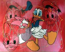 Steve Kaufman Donald And Daisy Ducks Red Pollock Unique Disney