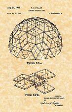 Patent Print - Geodesic Dome Buckminster Fuller Fig.17-23. 7 Prints
