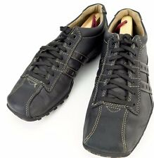 Skechers Size 9 Black Leather Citywide Midnight Bike Toe Oxford Shoes