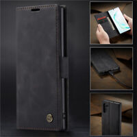 For Samsung Galaxy Note 10 Plus Magnetic Genuine Leather Wallet Flip Case Cover