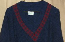 Vintage BENETTON Sweater~Sz 50 (Sz 40 Med-US)~Made in Italy~Acrylic, Wool,Alpaca