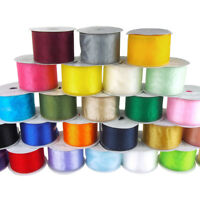 Sheer Organza Plain Ribbon Wired Edge, 10 Yards