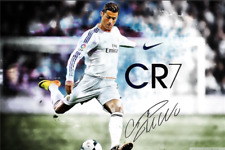 Cristiano Ronaldo Poster Football Madrid Posters Wall Sticker CR7 Wallpaper Art