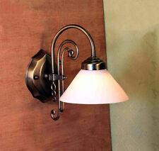 Jugendstil Flur Spiegel Schusterschirm Wand Lampe Wandlampe Lampenglas GN186GE