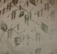 GLANT TEXTILE WISTERIA BEIGE FUME CUT VELVET BROCADE EXCLUSIVE FABRIC BY YARD