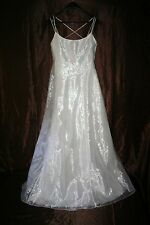 r- WEDDING BRIDESMAID GOWN SZ 9-10 GORGEOUS FORMAL WEAR PROM PAGEANT GENTLY USED