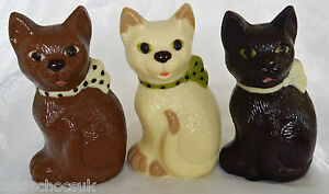 Belgian Chocolate Cat.Hand-made.Choose from three variations