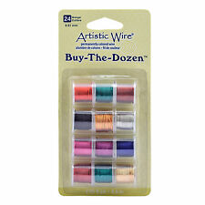 Artistic Wire BUY THE DOZEN 12 pck coloured wire 24g Standard Colours