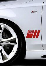 Audi A3 A4 A5 A6 A8 S4 S5 S6 RS4 Q3 Q5 Q7 TT S-Line Decal sticker emblem Re PAIR