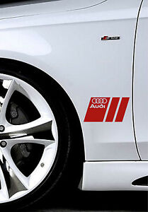 Audi A3 A4 A5 A6 A8 S4 S5 S6 RS4 Q3 Q5 Q7 TT S-Line Decal sticker emblem Re PAIR