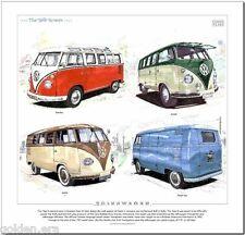 VOLKSWAGEN 'THE SPLIT-SCREEN' - FINE ART PRINT - Samba Kombi Panel Van VW Camper