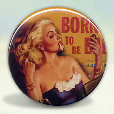 Pin Up Born To Be Bad Pulp Pocket Mirror tartx