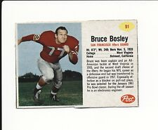 1962 POST CEREAL HAND CUT #91 BRUCE BOSLEY