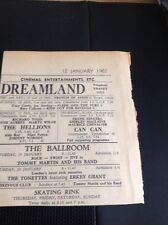 65-6 Ephemera 1962 Margate Dreamland Tommy Martin The Tonettes Sinatra Can Can