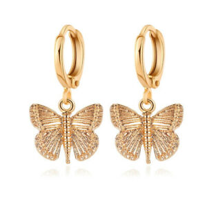 2021 Fashion Butterfly Drop Earrings Women Silver Gold Plated Jewelry A Pair/set