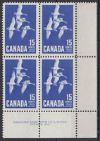 CANADA #415 15¢ Canada Goose LR Plate #2 Block MNH