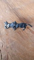 Two Black Cats Pin Brooch (v)