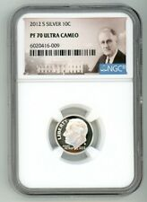 2012 S SILVER ROOSEVELT DIME 10C NGC PF 70 ULTRA CAMEO 6020416-009