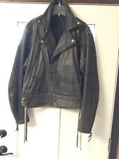 VTG.1990🇺🇸Langlitz Leathers Jacket: Brown Heavy Mens 44-45/Made In Portland,OR