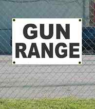 2x3 GUN RANGE Black & White Banner Sign NEW Discount Size & Price FREE SHIP