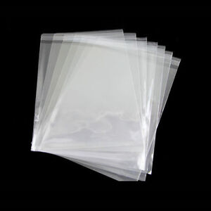 100Pcs Clear Cellophane Plastic Card Bags Display Bags Greeting Cards Package