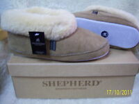 Ladies Gunuine Soft Sole Sheepskin Emmy Slippers Shepherd  Chestnut