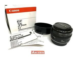 【MINT in BOX w/ HOOD】 Canon EF 35mm f/2 Wide Angle Prime AF / MF Lens from JAPAN
