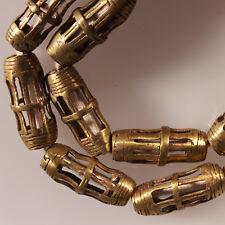 9422/F Collier composé de 20 perles de laiton Akan. cire perdue