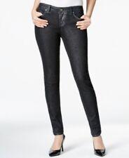 Style & Co. New Women's Jeggings, Black Silver Metallic Wash, Size 12