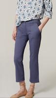 Ann Taylor LOFT Kick Crop Utility Pants Marisa Fit Blue Womens Size 10 Stretch