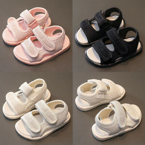 Baby Infant Kids Girls Summer Beach Sandals Toddler Open Toe Soft Flats Sandals