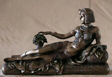 Art Deco Lady,Cleopatra Lying on Bed, H14cm, Small Figurine.