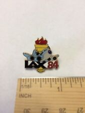 COLLECTOR PIN 1984 Los Angeles OLYMPIC LAX AIRPLANE and TORCH 84 Nice Rare Pin!