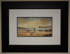 Irish Art Framed Original Oil Painting FAIRHEAD BALLYCASTLE BEACH by DARREN PAUL