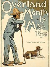 ART PRINT POSTER ADVERT MAGAZINE COVER OVERLAND MONTHLY HIKER DOG NOFL1652