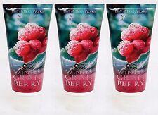 3 Bath & Body Works WINTER CRANBERRY Nourishing Hand Cream / Lotion