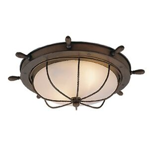 """Vaxcel Nautical 15"""" Outdoor Ceiling Light Antique Red Copper - OF25515RC"""