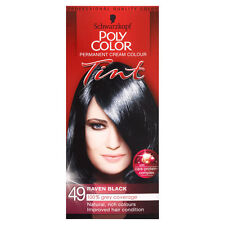 SCHWARZKOPF POLY COLOR TINT 49 RAVEN BLACK CREAM COLOUR